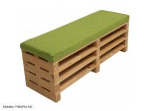 mobilier esprit végétal tendance développement durable avec des palettes par phiapaline